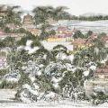 黄东雷国画长卷《明湖景区图》